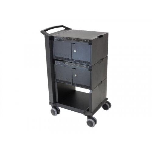"Ergotron Tablet Management Cart - Cart for 32 tablets - aluminium, steel - black - screen size: 10"""