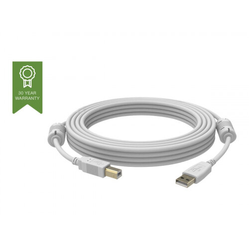 Vision Techconnect - USB cable - USB Type B (M) to USB (M) - USB 2.0 - 1 m - white