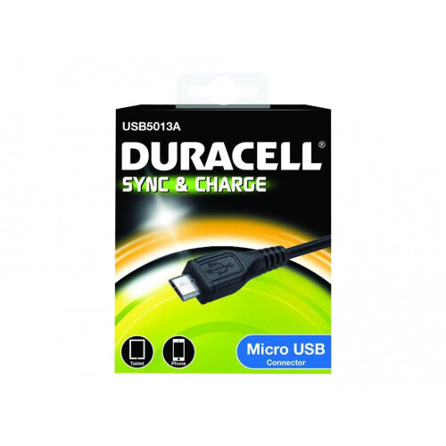Duracell - USB cable - Micro-USB Type B (M) to USB (M) - 1 m