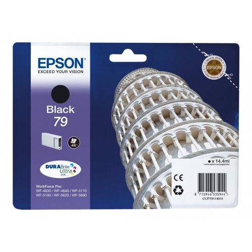 Epson 79 - 14.4 ml - black - original - ink cartridge - for WorkForce Pro WF-4630DWF, WF-4640DTWF, WF-5110DW, WF-5190DW, WF-5620DWF, WF-5690DWF
