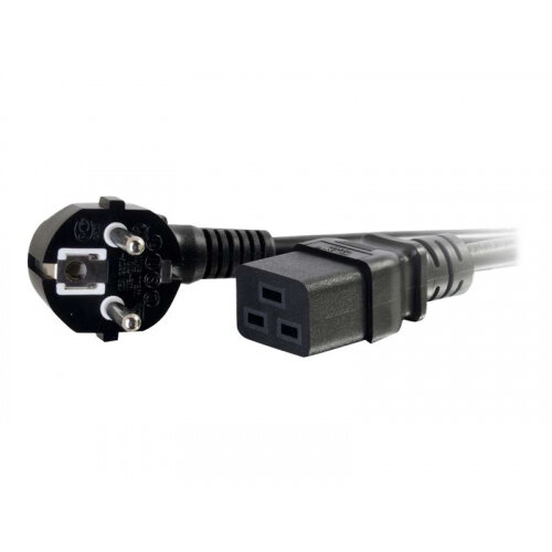 C2G 16 AWG 250 Volt 16 Amp Power Cord - Power cable - IEC 60320 C19 to CEE 7/7 (M) - AC 250 V - 2 m - molded - black - Europe