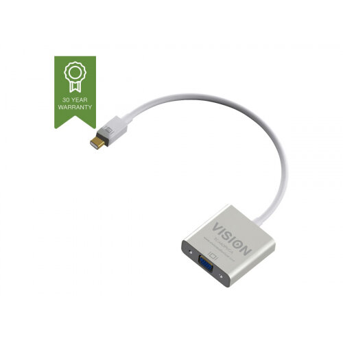 Vision Techconnect - Video adapter - Mini DisplayPort (M) to HD-15 (F) - 22 cm - white