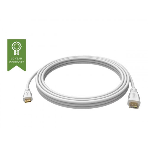 VISION Techconnect - HDMI with Ethernet cable - mini HDMI (M) to HDMI (M) - 2 m - white - 4K support