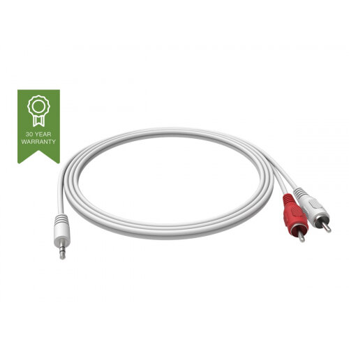 VISION Techconnect - Audio cable - RCA (M) to stereo mini jack (M) - 2 m - white