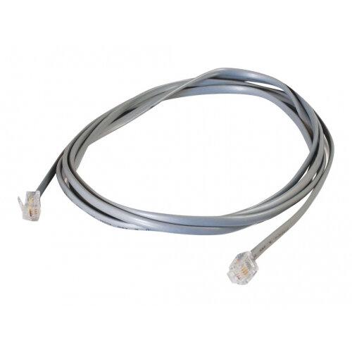 C2G RJ11 6P4C Straight Modular Cable - Phone cable - RJ-11 (M) to RJ-11 (M) - 3 m - grey