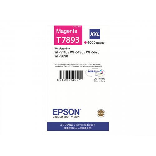 Epson T7893 - 1 - 34.2 ml - XXL size - magenta - print cartridge - for WorkForce Pro WF-5110DW, WF-5190DW, WF-5190DW BAM, WF-5620DWF, WF-5690DWF, WF-5690DWF BAM