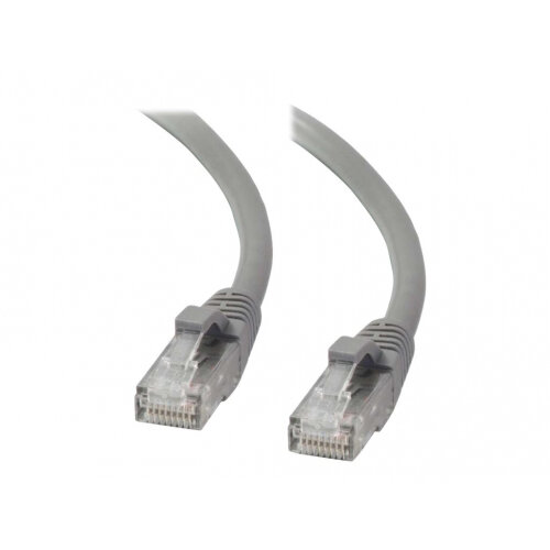 C2G Cat5e Booted Unshielded (UTP) Network Patch Cable - Patch cable - RJ-45 (M) to RJ-45 (M) - 3 m - UTP - CAT 5e - molded, snagless, stranded - grey