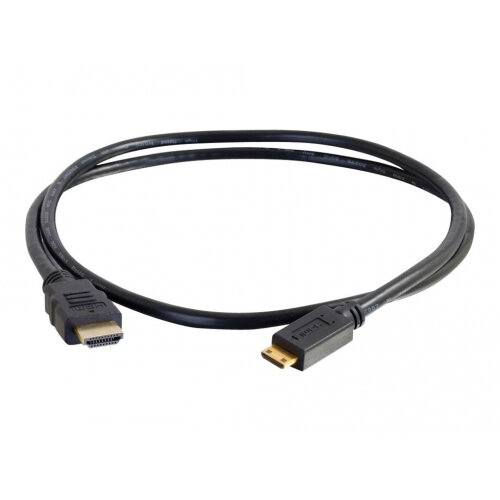 C2G Value Series High Speed with Ethernet HDMI Mini Cable - HDMI with Ethernet cable - HDMI (M) to mini HDMI (M) - 2 m - black