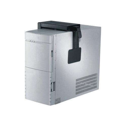 NewStar Under Desk &On-Wall PC Mount (Suitable PC Dimensions -  Height: 30-53 cm / Width: 8-22 cm) - System unit holder - under-desk mountable - black