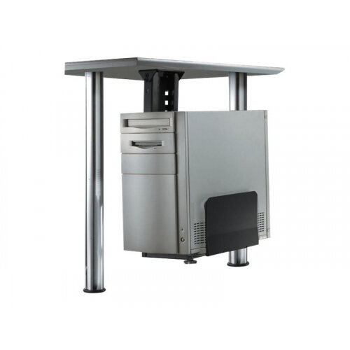 NewStar Under Desk PC Mount (Suitable PC Dimensions -  Height: 39-54 cm / Width: 13-23 cm) - Black - System unit holder - under-desk mountable - black