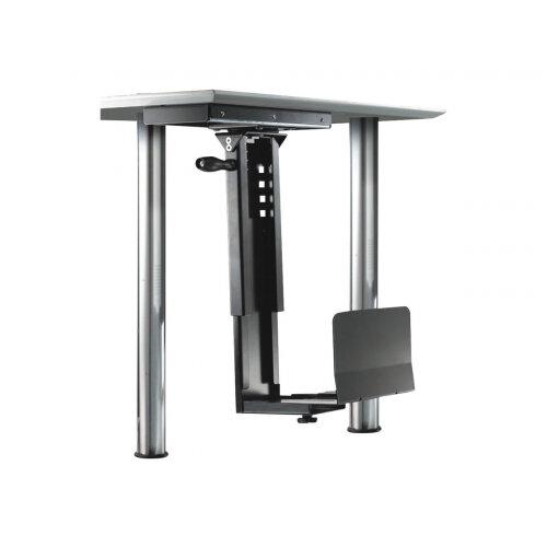 NewStar Slidable Under Desk PC Mount (Suitable PC Dimensions -  Height: 39-54 cm / Width: 13-23 cm) - Black - Mounting kit (CPU holder) - black - under-the-desk