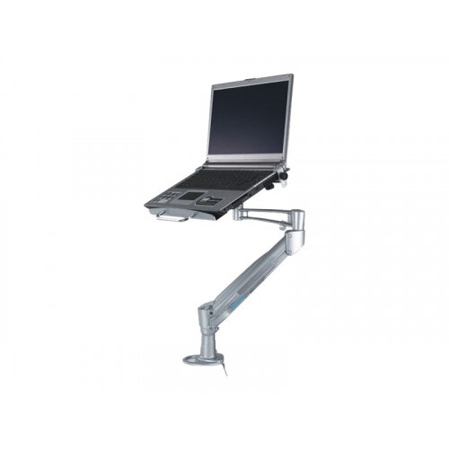 "NewStar Desk Mount (clamp) for Laptop (Full Motion Gas Spring) - Silver - Adjustable arm for notebook (Tilt &Swivel) - silver - screen size: 10""-17"" - desk-mountable"