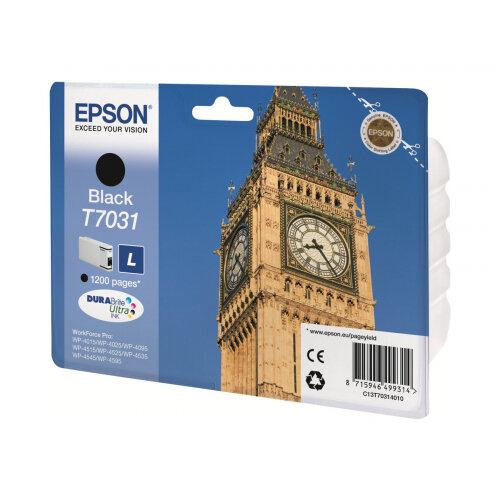 Epson T7031 - L size - black - original - blister - ink cartridge - for WorkForce Pro WP-4015, WP-4025, WP-4095, WP-4515, WP-4525, WP-4535, WP-4545, WP-4595