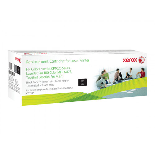 Xerox HP Colour LaserJet CP1025 - Black - toner cartridge (alternative for: HP CE310A) - for HP Color LaserJet Pro CP1025; LaserJet Pro MFP M175; TopShot LaserJet Pro M275
