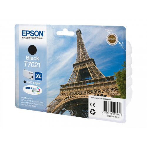 Epson T7021 - XL size - black - original - blister - ink cartridge - for WorkForce Pro WP-4015, WP-4025, WP-4095, WP-4515, WP-4525, WP-4535, WP-4545, WP-4595