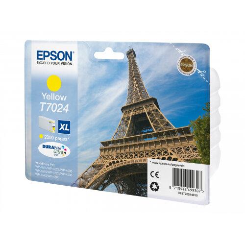 Epson T7024 - 21.3 ml - XL size - yellow - original - blister - ink cartridge - for WorkForce Pro WP-4015, WP-4025, WP-4095, WP-4515, WP-4525, WP-4535, WP-4545, WP-4595
