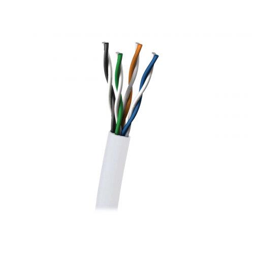 C2G - Bulk cable - 305 m - UTP - CAT 5e - plenum, solid - white