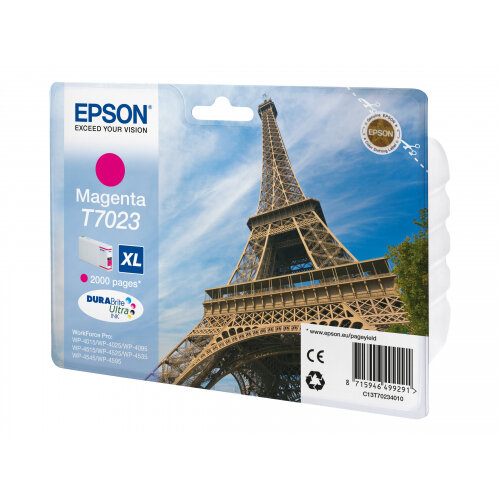 Epson T7023 - 21.3 ml - XL size - magenta - original - blister - ink cartridge - for WorkForce Pro WP-4015, WP-4025, WP-4095, WP-4515, WP-4525, WP-4535, WP-4545, WP-4595