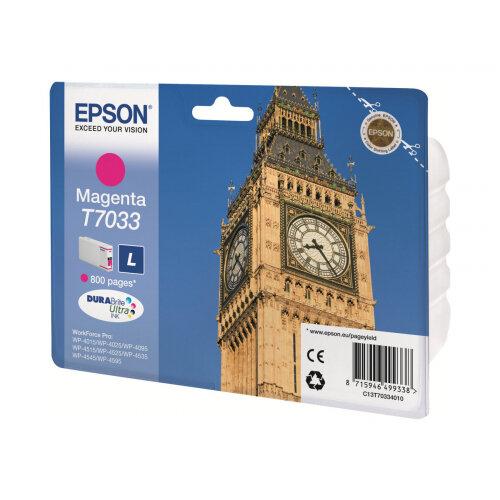 Epson T7033 - L size - magenta - original - blister - ink cartridge - for WorkForce Pro WP-4015, WP-4025, WP-4095, WP-4515, WP-4525, WP-4535, WP-4545, WP-4595