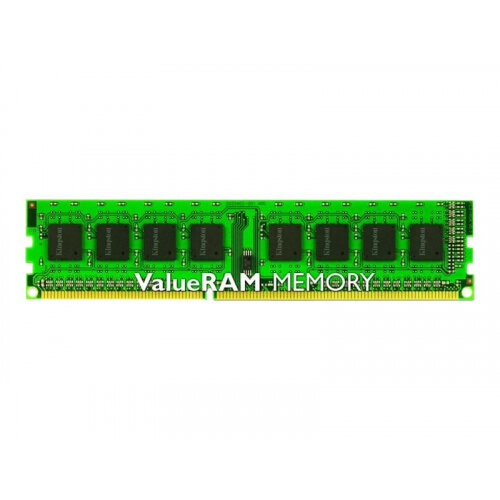 Kingston ValueRAM - DDR3 - 4 GB - DIMM 240-pin - 1333 MHz / PC3-10600 - CL9 - 1.5 V - unbuffered - non-ECC Ref KVR13N9S8H/4