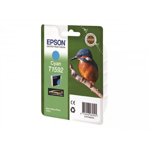 Epson T1592 - 17 ml - cyan - original - blister - ink cartridge - for Stylus Photo R2000