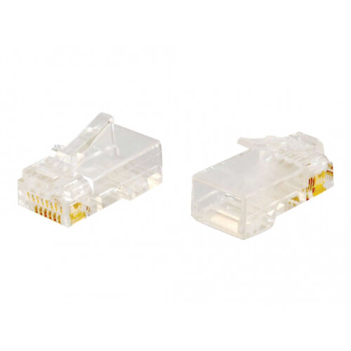 C2G RJ45 Cat5E Modular Plug (with Load Bar) for Round Solid/Stranded Cable - Network connector - RJ-45 (M) - CAT 5e (pack of 50)