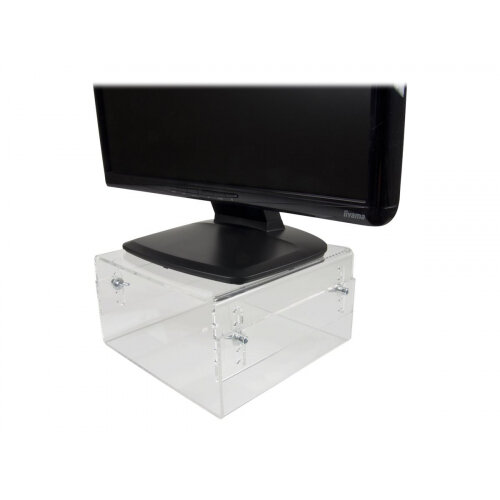 Newstar Height Adjustable  Transparent Monitor Stand (Clear Acrylic) - Monitor stand - transparent