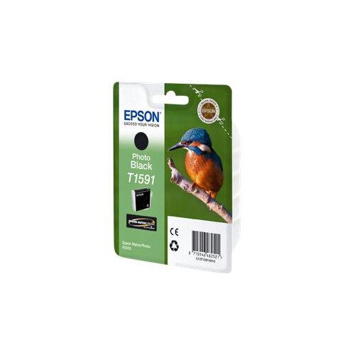 Epson T1591 - 17 ml - photo black - original - blister - ink cartridge - for Stylus Photo R2000