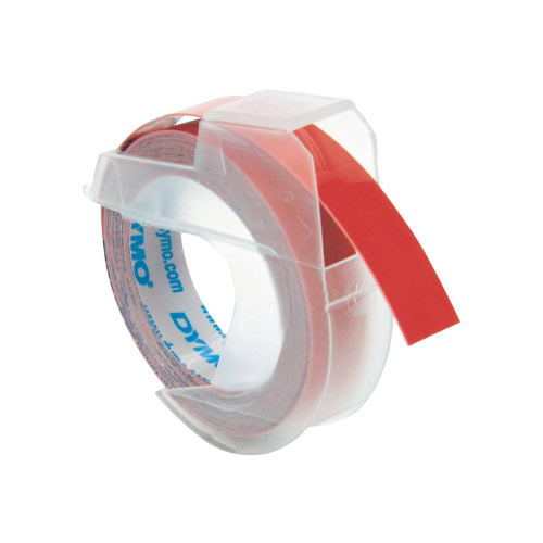 DYMO - Self-adhesive - red - Roll (0.9 cm x 3 m) 1 roll(s) 3D embossing tape - for DYMO Junior embosser; Cool Clicks