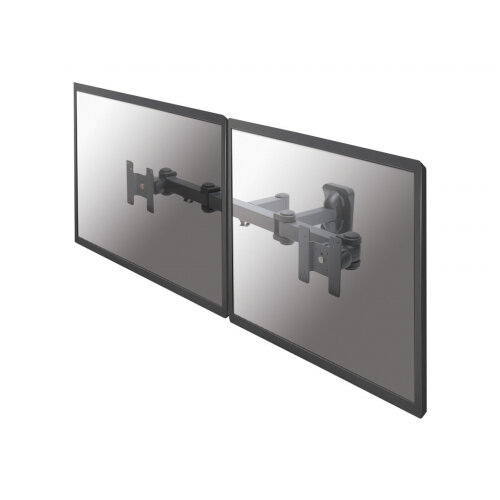 """NewStar TV/Monitor Wall Mount (Full Motion) for TWO 10""""-27"""" Screens - Black - Wall mount for 2 LCD displays - black - screen size: 10""""-27"""""""