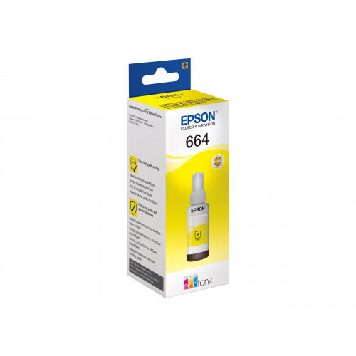 Epson T6644 - 70 ml - yellow - ink refill - for Epson L382, L386, L486; EcoTank ET-16500, 2600, 2650, 4550, L310, L375, WorkForce ET-4500