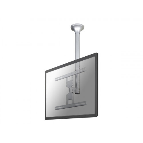 "NewStar TV/Monitor Ceiling Mount for 32""-60"" Screen, Height Adjustable - Silver - Ceiling mount for LCD / plasma panel (Tilt &Swivel) - silver - screen size: 32""-60"""