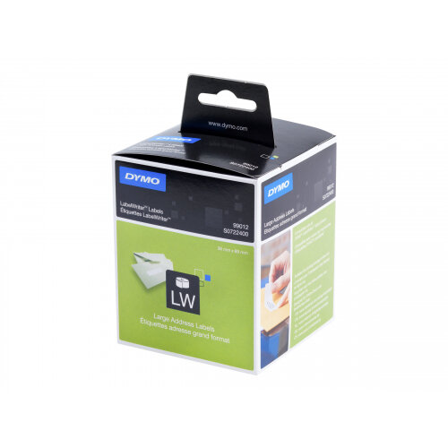 DYMO LabelWriter - Paper - permanent adhesive - white - 36 x 89 mm 520 label(s) (2 roll(s) x 260) address labels - for DYMO LabelWriter 300, 400, 450, 4XL
