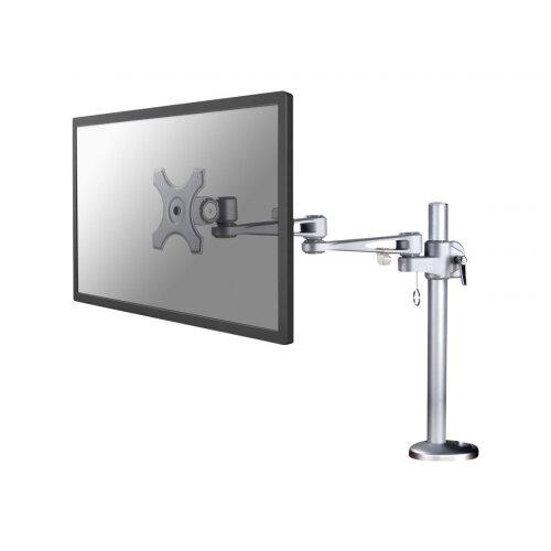"NewStar Full Motion Desk Mount (grommet) for 10-30"" Monitor Screen, Height Adjustable - Silver - Adjustable arm for LCD display (Tilt &Turn) - silver - screen size: up to 30"" - desk-mountable"