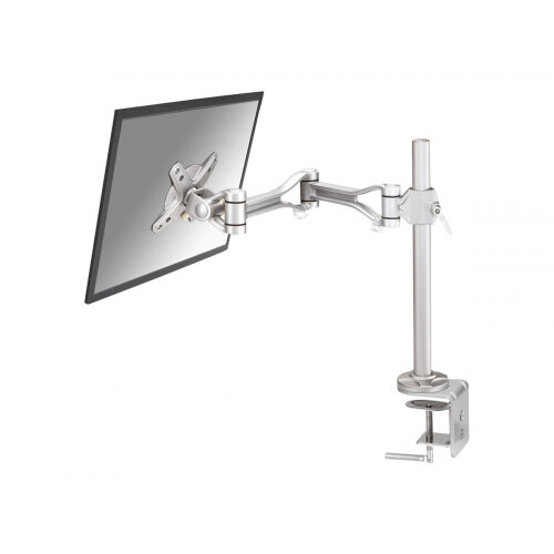 "NewStar Full Motion Desk Mount (clamp) for 10-30"" Monitor Screen, Height Adjustable - Silver - Adjustable arm for LCD display - silver - screen size: 10""-30"" - desk-mountable"