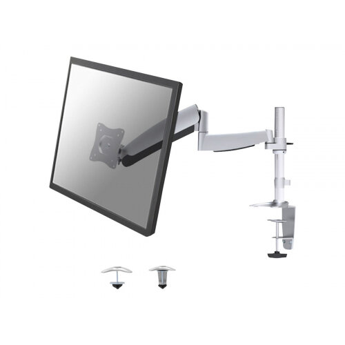 "NewStar Full Motion Desk Mount (clamp) for 10-30"" Monitor Screen, Height Adjustable (gas spring) - Silver - Adjustable arm for LCD / plasma panel (Tilt &Swivel) - silver - screen size: 10""-30"" - desk-mountable"