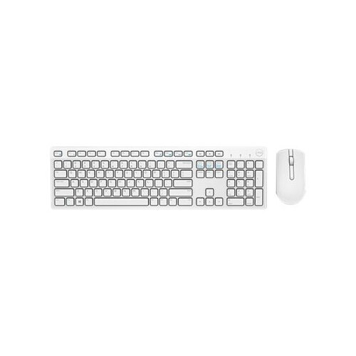 Dell KM636 - Keyboard and mouse set - wireless - UK layout - white - for Inspiron 34XX, 36XX; Latitude 5289 2-In-1, 7390 2-in-1; Vostro 32XX; Dell Wyse 3040