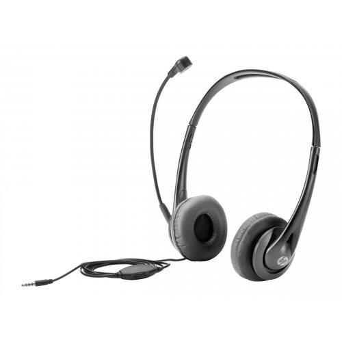 HP - Headset - on-ear - wired - black jack - for HP 245 G6, 250 G6, 255 G6; EliteBook 1040 G4; ProBook; x2; ZBook 14u G4, Studio G4