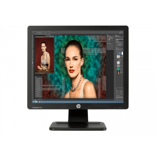 "HP ProDisplay P17A - LED Computer Monitor - 17"" (17"" viewable) - 1280 x 1024 - TN - 250 cd/m² - 1000:1 - 5 ms - VGA - black"