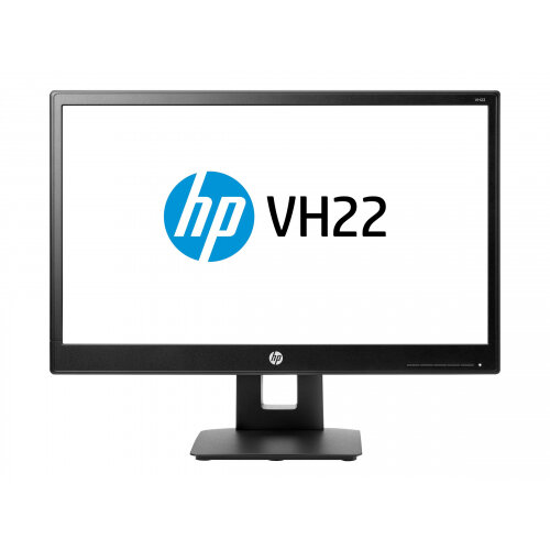 "HP vh22 - LED Computer Monitor - 21.5"" (21.5"" viewable) - 1920 x 1080 Full HD (1080p) - TN - 250 cd/m² - 1000:1 - 5 ms - DVI-D, VGA, DisplayPort - black"