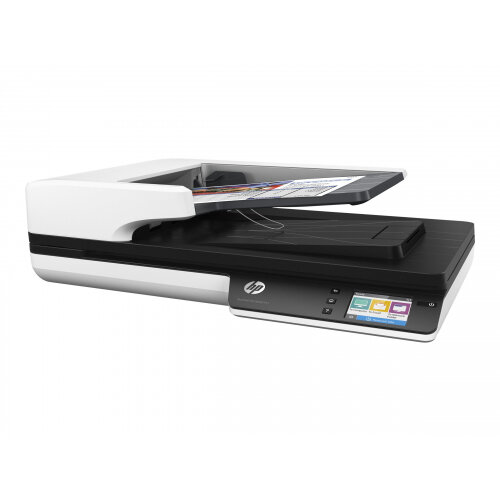 HP Scanjet Pro 4500 fn1 - Document scanner - Duplex - A4/Letter - 1200 dpi x 1200 dpi - up to 30 ppm (mono) / up to 30 ppm (colour) - ADF (50 sheets) - up to 4000 scans per day - USB 3.0, Gigabit LAN, Wi-Fi(n)