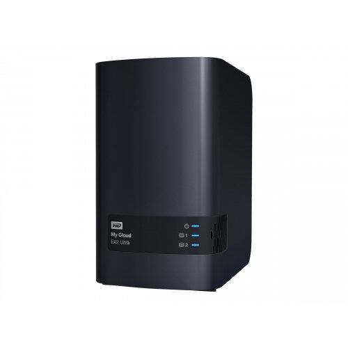WD My Cloud EX2 Ultra WDBVBZ0000NCH - Personal cloud storage device - 2 bays - RAID 0, 1, JBOD - RAM 1 GB - Gigabit Ethernet - iSCSI