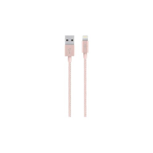 Belkin MIXIT Metallic Lightning to USB Cable - Lightning cable - USB (M) to Lightning (M) - 1.2 m - rose gold - for Apple iPad/iPhone/iPod (Lightning)
