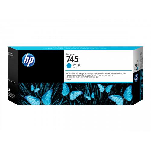 HP 745 - 300 ml - cyan - original - DesignJet - ink cartridge - for DesignJet Z2600 PostScript, Z5600 PostScript