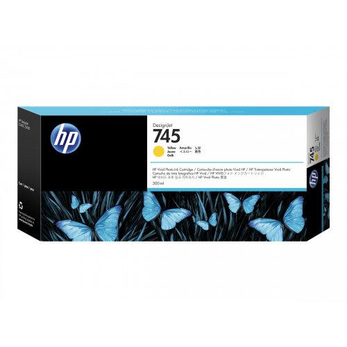 HP 745 - 300 ml - yellow - original - DesignJet - ink cartridge - for DesignJet Z2600 PostScript, Z5600 PostScript