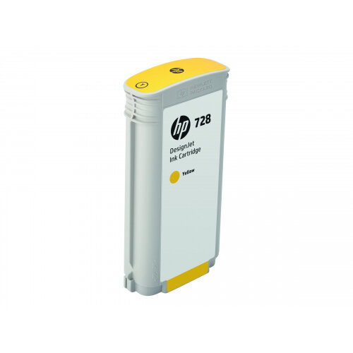 HP 728 - 130 ml - dye-based yellow - original - DesignJet - ink cartridge - for DesignJet T730, T830