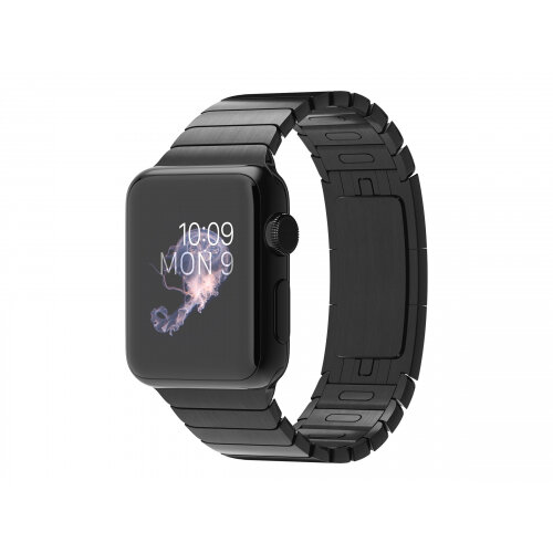 Apple Watch Original - 38 mm - space black stainless steel - smart watch with link bracelet - stainless steel - space black - band size 135-195 mm - Wi-Fi, Bluetooth - 40 g