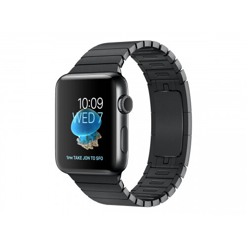 Apple Watch Original - 42 mm - space black stainless steel - smart watch with link bracelet - stainless steel - space black - band size 140-205 mm - Wi-Fi, Bluetooth - 50 g