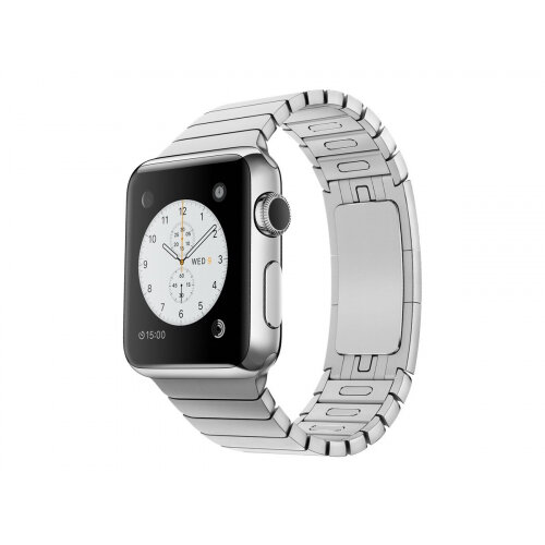 Apple Watch Original - 38 mm - stainless steel - smart watch with link bracelet - stainless steel - band size 135-195 mm - Wi-Fi, Bluetooth - 40 g