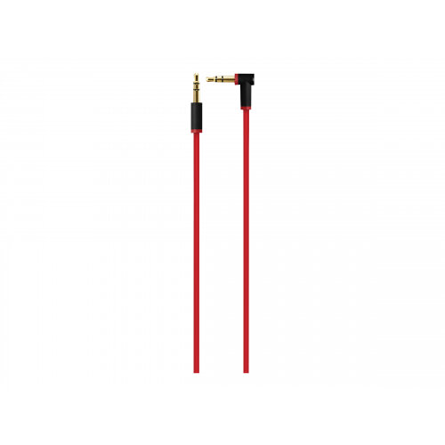 Beats - Audio cable - stereo mini jack (M) to stereo mini jack (M) - red - for iPhone 3GS, 4, 4S, 5, 5c, 5s, 6, 6 Plus, SE